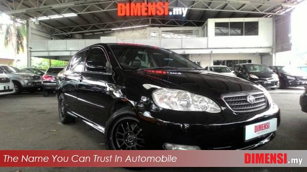 sell Toyota Altis 2004 1.6 CC for RM 22800.00 -- dimensi.my