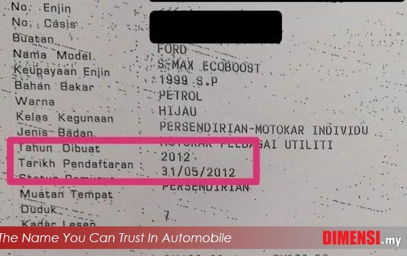 sell Ford S-MAX ECOBOOST 2012 2.0 CC for RM 58900.00 -- dimensi.my the name you can trust in automobile