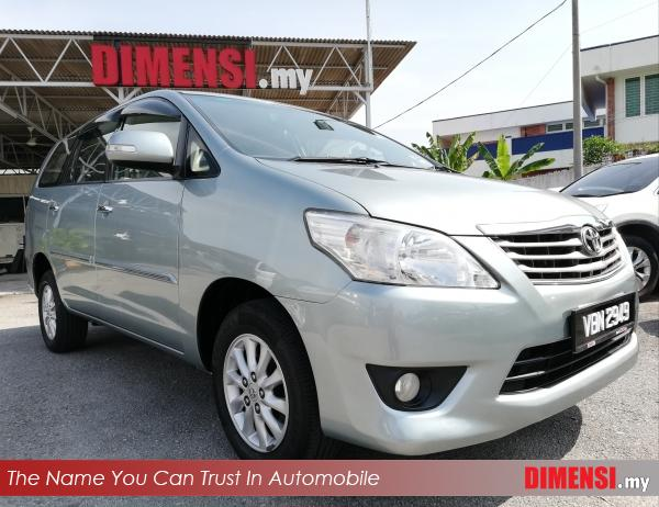 sell Toyota Innova 2014 2.0 CC for RM 67900.00 -- dimensi.my