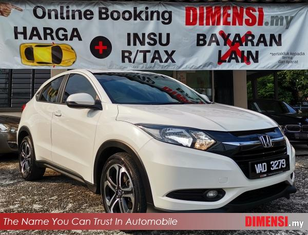 sell Honda HR-V 2017 1.8 CC for RM 75900.00 -- dimensi.my